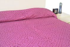 Pretty Pink Queen Bedspread with Beautiful Applique - Queen Bed Cover in Lovely Sakura Pink Cotton -Light Quilt- Applique Bedspread- Pink Quilt Amore Beaute http://www.amazon.com/dp/B00DOAOTY6/ref=cm_sw_r_pi_dp_t14Rvb1P11QWH