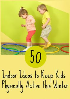 50 indoor physical activities for kids It's hard to stay physically active with kids, especillay though the winter months. These activites are great for preschoolers at home. When snow cancells Physical Activities For Toddlers, Winter Activities For Kids, Gross Motor Activities, Rainy Day Activities, Indoor Toddler Activities, Preschool Movement Activities, Winter Activities For Preschoolers, Activities For 2 Year Olds Indoor, Learning Activities