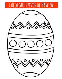 Dibujos de huevos de Pascua que puedes descargar e imprimir gratis para pintar y colorear con los niños. Para descargar el archivo haz click sobre la imagen:     Además de utilizar lápices de colores puedes utilizar gomets o purpurina o también trozos de papel decorado, pasarán un rato divertido decorando estos dibujos de huevos de Pascua.  Enlaces relacionados con colorear huevos de Pascua: Colorear conejo de Pascua Dibujo del conejito de Pascua para imprimir Colorear conejitos Dibujos… Easter Coloring Pictures, Easter Coloring Sheets, Easter Colouring, Coloring Book Pages, Coloring Pages For Kids, Easter Gift, Easter Crafts, Doh Vinci, Easter Paintings