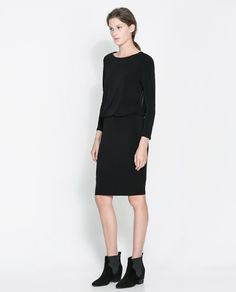 DRESS WITH TRANSPARENT BACK - Dresses - Woman   ZARA Greece