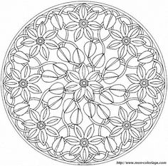 This advanced Mandala coloring sheet is a fun design and quite challenging to color. Mandala 4 coloring page can be decorated online with the .