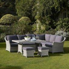 Garden Furniture Gomshall ashbourne 4 seater dining set | adrian hall garden centres london