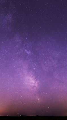 Purple Night Sky Stars Milky Way Android Wallpaper