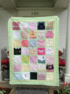 Another great idea for baby clothes quilt.