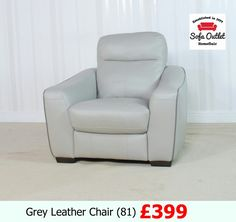 Grey Leather Chair, Sofa Outlet, Sofa Ideas, Armchair, Furniture, Home Decor, Sofa Chair, Single Sofa, Decoration Home