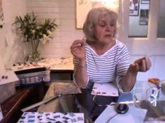 Series 2 - part 2 - making papier-mâché jewellery that resembles enamel - YouTube