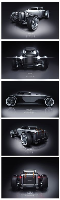 Matilda II is a three box, open wheel concept car. The main idea is, design a car, which has classic feelings with modern shapes.