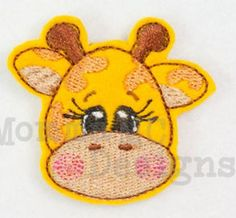 Giraffe feltie for hair bows barrettes and other by FeltieFactory