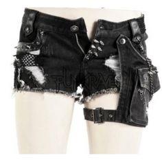 Gotische Visual Kei Mini-Shorts