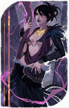 fantasy, game, illustration, fanart, morrigan, dragon age, character