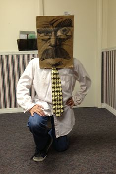 Paper bag masks always make for a fun costume.