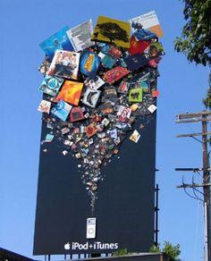 Increíble cartel de promoción de APPLE para anunciar su producto iPod.