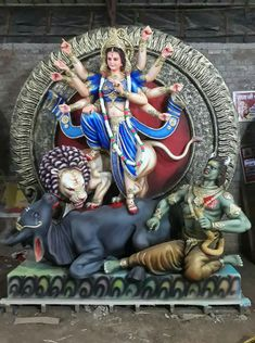 Durga Maa Paintings, Lord Ganesha Paintings, Ganesha Art, Durga Ji, Saraswati Goddess, Goddess Art, Krishna Hindu, Radha Krishna Pictures, Mahakal Shiva