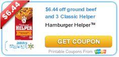 Double Deal: Hamburger Helper Rebate + Coupon = $12.88 in Free Hamburger http://shoppingkim.com/double-deal-hamburger-helper-rebate-coupon-12-88-in-free-hamburger/