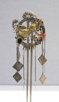 Japan | Hair ornament; silver, and silver gilt | 19th century, from the Edo period (1615 - 1868)