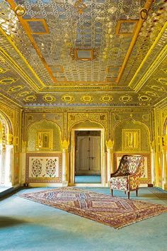 By royal appointment: Inside Rajasthan's grandest palaces India Architecture, Architecture Design, Persian Architecture, Building Architecture, Palaces, Indian Interior Design, Indian Interiors, Yellow Doors, Architectural Digest