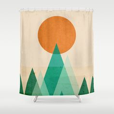 No mountains high enough Shower Curtain by Budi Satria Kwan - $68.00