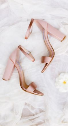 Pretty shade of blush for a spring or summer wedding!