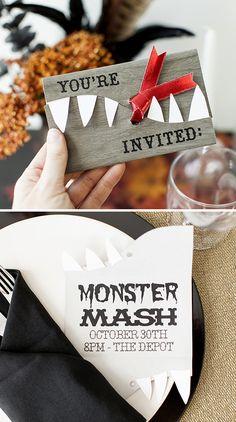 Monster Mash Halloween Party Invitation