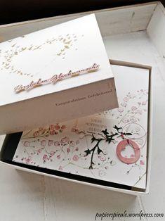 Papierspirale - Hochzeitsalbum Schleierkraut in Box Box, Paper, German Men, Cards, Bookbinding, Boxes, Snare Drum