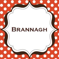 """MEANING: From bran """"raven,"""" a way of saying """"beauty with hair as dark as a raven.""""  GENDER: Girl 
