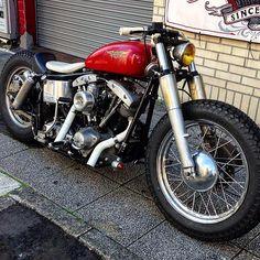 やっぱ4速フレームはカッコ良い! #harley #harleydavidson #sidevalve #flathead #knuckle #knucklehead #pan #panhead #earlyshovel #shovel #shovelhead #evo #evolution #twincam #iron #ironhead #sportster #custom #chopper #bobber #vintage