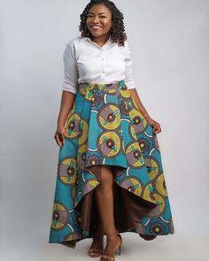 30 Latest Ankara Skirt Styles You Should Check Out Ankara Peplum Tops, Ankara Skirt, African Print Skirt, African Dress, African Attire, African Prints, African Fashion Skirts, Skirt Fashion, Ankara Fashion