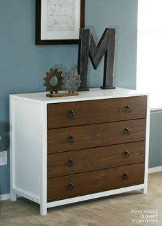 Ana White | Build a Modern White Dresser with Wood Drawers | Free and Easy DIY Project and Furniture Plans