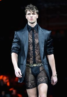 He can't...but I want Kael to wear this down a catwalk.  People would pass out from the sexy coming at them.  XD