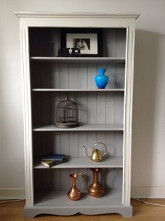 shabby chic painted solid pine bookcase Annie Sloan