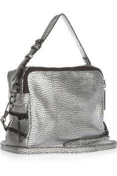 3.1 Phillip Lim Lark embossed metallic leather clutch NET-A-PORTER.COM