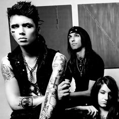 Andy Biersack, CC, and Jake pitts