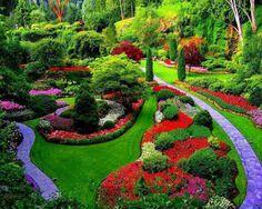 Beautiful Butchart Gardens, Vancouver, Canada
