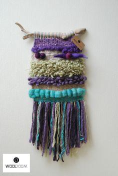 Espacio Magnolia - Hand woven wall hanging // weaving // telar decorativo made by WooL LooM Weaving Textiles, Weaving Art, Tapestry Weaving, Loom Weaving, Hand Weaving, Weaving Projects, Crochet Projects, Weaving Wall Hanging, Peg Loom