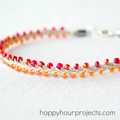 LOVE this hemp and beaded anklet! Would make cute necklace and bracelet too. Maybe even a whole set of matching colors.