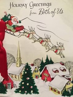 A personal favorite from my Etsy shop https://www.etsy.com/listing/473878895/vintage-christmas-card-unused-nos-santa