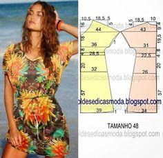 eecc097dd VESTIDO FÁCIL DE FAZER-42 Padrão De Costura, Dicas De Costura, Vestidos  Faceis