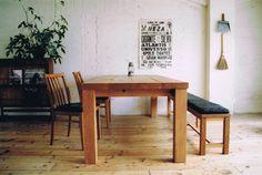 truck oak table