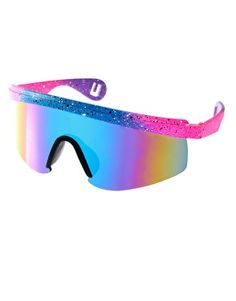 Enlarge Jeepers Peepers Sport Vintage Fluro Visor Wrap Sunglasses