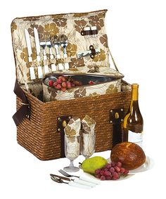 1a6933669 Loving this Woodstock Two-Person Picnic Basket Set on  zulily!  zulilyfinds  Picnic