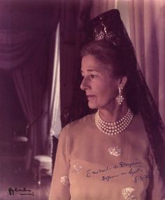 Emanuela de Dampierre. former spouse of Infante Jaime, duke of Segovia and grandmother of Luis Alfonso