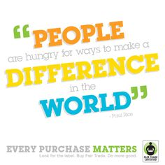 People are hungry for ways to make a difference in the world