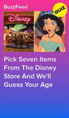 Pretend To Shop At The Disney Store And We'll Guess Your Age - Pick Seven Items From The Disney Store And We'll Guess Your Age La meilleure image selon vos envie - Quizzes For Kids, Girl Quizzes, Fun Quizzes, Princess Quizzes, Disney Princess Quiz, Disney Cute, Disney Fun Facts, Punk Disney, Disney Buzzfeed
