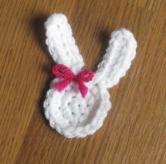 Little Bunny Applique ~ free pattern on Ravelry
