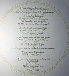 Wiccan wedding vows wedding vows