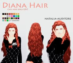 RELEASED Diana Hair• Inspired on DC comics - Wonder woman, The new 52 • Edited from EA cats and dogs. • Almost 30 colours • Hat chops DOWNLOAD