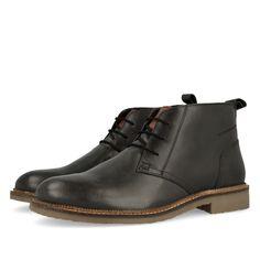 Botines de hombre de piel en negro con trabilla trasera para ayudar a calzar…