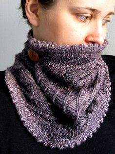free knitted cowl infinity scarf pattern for sock yarn 4 ply Patterns for 1...