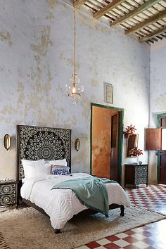 Anthropologie EU Tapestry Inlay Bed