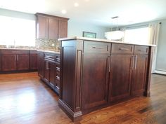Koch Cabinets Charleston door style in mocha stain on cherry wood ...